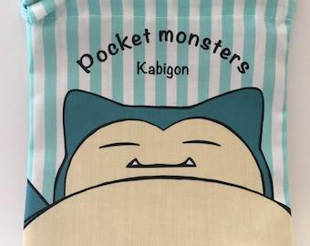 Pocket monster Kabigon cotton drawstring bag