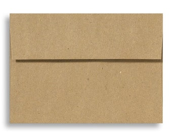 5x7 Envelopes Grocery Bag Envelopes - Set of 25 A7 Size - Perfect for 5x7 Invitations or Cards - Recycled Envelopes