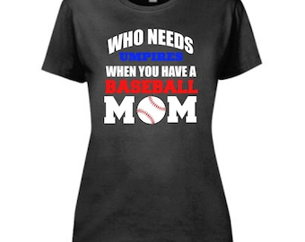 Baseball Mom | Graphic Tee | Humor Tee's | Women's Tees