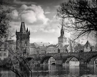 A framed Photograph of the Charles Bridge in Prague, Framed Photography, Prague Photography, Fine Art Photography, Wall Art