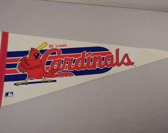 Vintage MLB St. Louis Cardinals Pennant Banner/ Flag