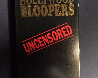 Hollywood Bloopers Uncensored VHS Movie Comedy