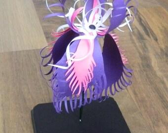 3D Paper Sculpture Iris