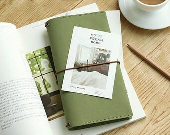 Kraft Paper Cover Traveler's Notebook - Standard Size, Refillable Journal