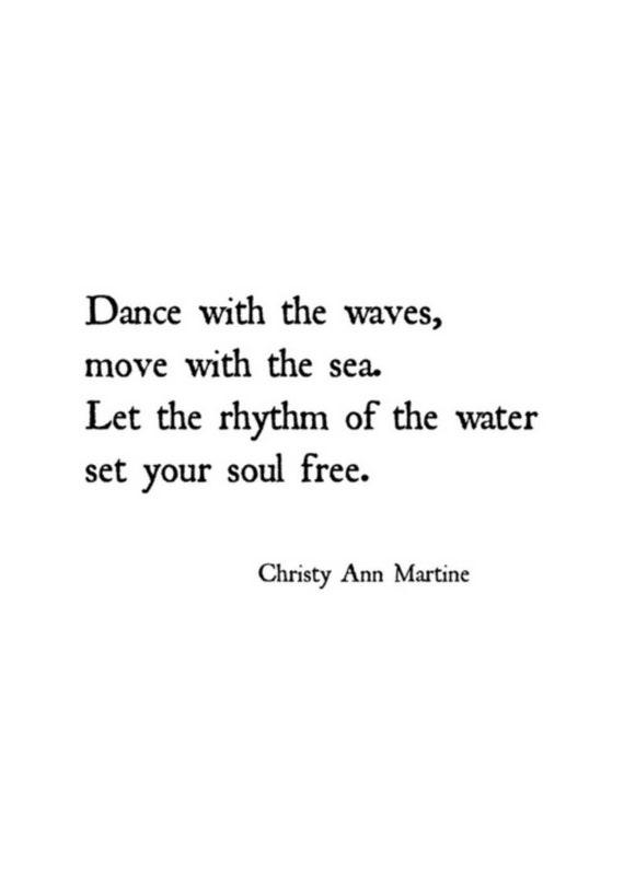 Beach Decor - Wall Art Decor - Beach Lovers Gift - Boho Ocean Art Print - Dance with the Waves Move with the Sea by Poet Christy Ann Martine