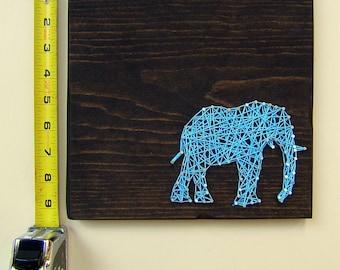 Elephant String Art - Modern Wall Art Tablet