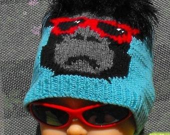 HALF PRICE SALE Instant Digital File pdf download Knitting Pattern -Baby Madmonkeyknitter Beanie Hat pdf download knitting pattern by madmon