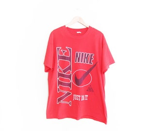 vintage t shirt / NIKE t shirt / 90s sportswear / 1990s bootleg NIKE Just Do It oversize t shirt XL