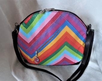 "handbag leather ""Rainbow"" collection, 100% handmade"