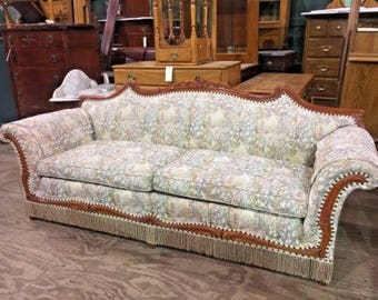 Vintage Antique Upholstered Parlor Living Room Sofa Couch