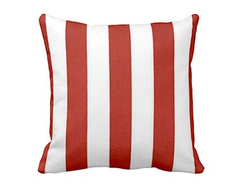 SALE | 50% OFF: 18x18 Pillow Cover Red Pillow Cover Red Throw Pillow Cover Striped Pillow Decorative Pillows Red Pillowcase Red Cushions