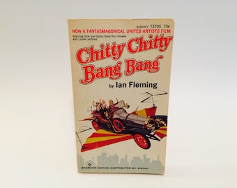 Vintage Children's Book Chitty Chitty Bang Bang by Ian Fleming 1964 Movie Tie-In Edition Paperback