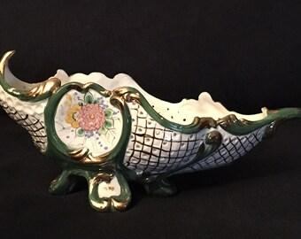 Benrose Italian Ceramic Lattice Planter
