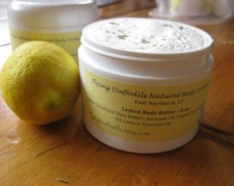 Lemon Body Butter, 4 or 8oz - All Natural