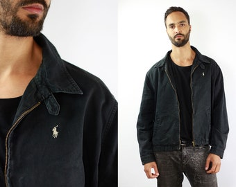 Bomber Jacket Ralph Lauren Jacket Black Bomber Jacket Ralph Lauren Vintage Bomber Ralph Lauren Vintage 90s Summer Jacket Polo Sport Jacket