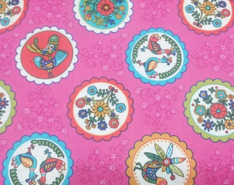 Pink Cotton Fabric, Cotton quilt fabric, by the yard or half yard, or fat quarter, quilting fabric,