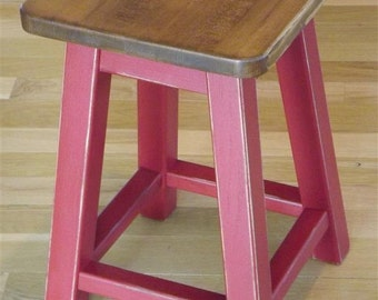 "Reclaimed /wood/ bar stool/ counter stool/ distressed/ stained/ 25"" to 30"" H"