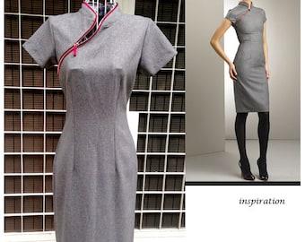 CATHY pencil dress dress runway inspired custom made