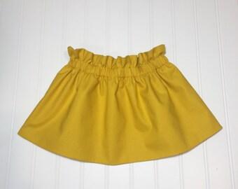 Little Mustard Skirt Handmade High Waisted