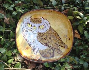 Chelsea Pottery Owl Large Plate Joyce Morgan
