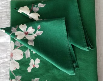 Vintage 50s Wilendur Tablecloth and Napkins