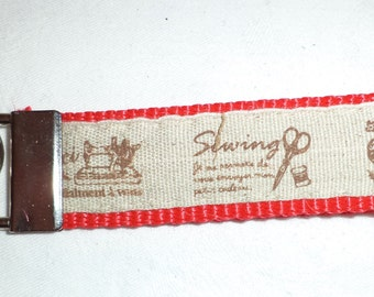 Key ring sewing red, sewing