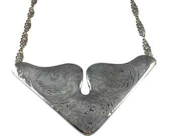 Acid etched necklace