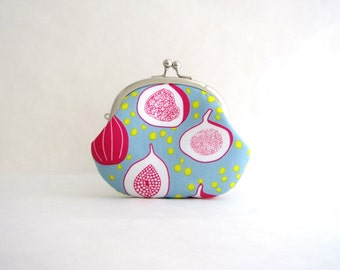 Fig Coin Purse - Change Purse - Mini Pouch - Womens Purse - Coin Pouch - Jewelry Purse - Cosmetic Purse - Purse Accessories - Gift for Her