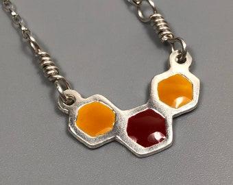 Honeycomb necklace