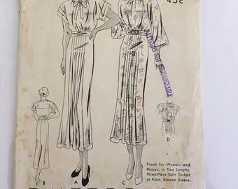 Vintage Butterick dress pattern 6642