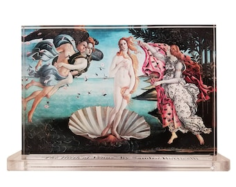 Sandro Botticelli Birth of Venus  Masters Behind The Glass Clear Acrylic Display