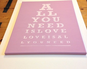 """All you need 16""""x20"""" wall canvas"""