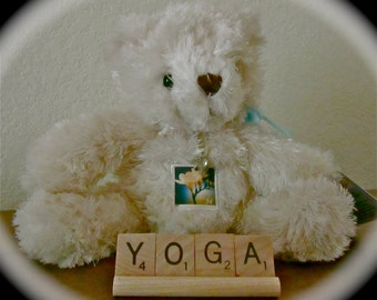 Yoga Zen Inspirational Uplifting Gift Sets, Scrabble Word Ornaments Accessories