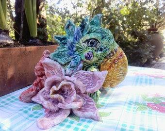 Ceramic colorful Parrot
