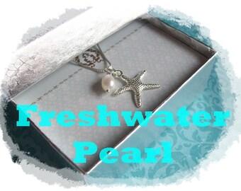 BEACH JEWELRY NECKLACE - Beach Necklace - Starfish Jewelry - Starfish Necklace, Ocean Jewelry - Ocean Necklace- Beach Necklace - Starfish