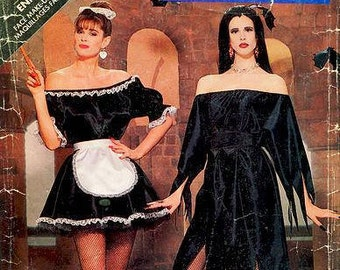 Sz  Sm/Med/Lg - Butterick 5800 - Misses' French Maid - Vampire - Elvira Costume - Pattern at Large Size - OOP