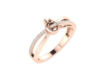 Rose Gold Rings - 14k Gold mom Rings - Certified Diamond Gold Rings - Mother's Day Gold Jewelry