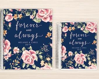 Custom Wedding Planner, Wedding Planner Organizer, Engagement gift for Bride, Bridal Gift Idea, Wedding Planning Guide, forever and always