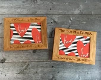 5x7 Personalised Engraved Oak Frame