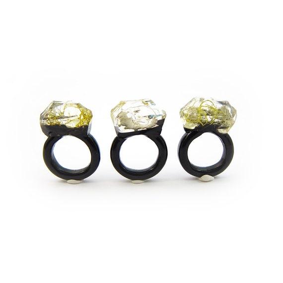 Moss Resin Ring • Nature Inspired Rings • Terrarium Ring • Terrarium Moss Jewelry • Botanical Ring •  • Size 6.5