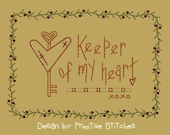 MACHINE EMBROIDERY-Keeper Of My Heart-5x7-Colorworks-Instant Download