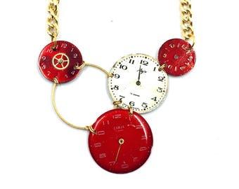 Steampunk Necklace Chic Vintage dials