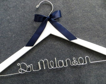 Personalized Doctor Hanger, First White Coat, Doctor Graduation Gift, White Coat Ceremony Hanger, Dr Hanger, Doctor Gift,  Lab Coat Hanger