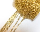 3.8mm x 6.9mm Chain, Gold...