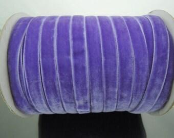 Velvet Ribbon - Light Purple Velvet Ribbon 10mm ( 3/8 inches )