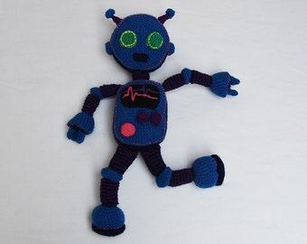 Blue Robot Crochet Pattern - Robot Amigurumi Pattern - Crochet Robot Pattern - Robot Toy Pattern - Amigurumi Crochet Pattern - no.179