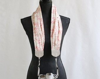 scarf camera strap pink sylvia - BCSCS066
