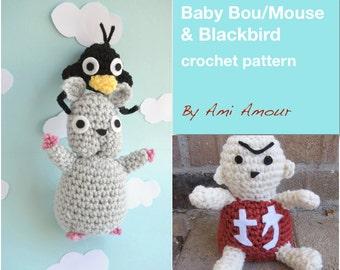 Spirited Away crochet pattern Baby Mouse Blackbird