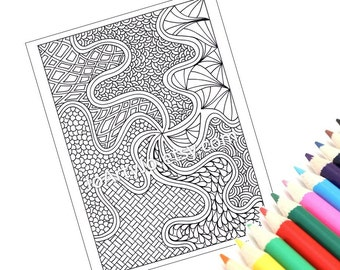 Zentangle Inspired Pattern to Color, Download Page 52