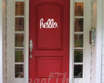 Hello Door Decal